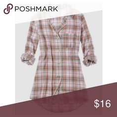 Aerie Plaid Flannel Sleep Shirt/Dress Perfect winter long pj shirt aerie Intimates & Sleepwear Pajamas