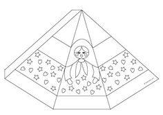 vignette modèle calendrier de l'avent babouchka à colorier http://www.kutchuk.com/noel/bricolages/avent/calendrier-babouchka.html#