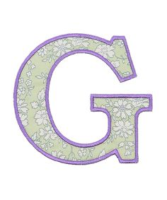 Green Capel Liberty Print Fabric Letter S Shop More From The