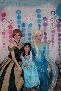 Frozen princes photo booth