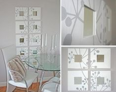 Blog de decoración, manualidades, reciclaje.. a la altura de bolsillos sencillos y amantes de la transformación. Ikea Organization, Malm, Gallery Wall, Wall Decor, Diy Projects, Chair, Ikea Hacks, Mirror Mirror, Mirrors