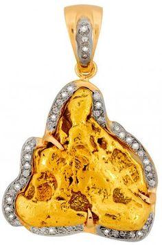 REAL Gold Nugget Bangle Bracelet | Bracelets | Pinterest ...