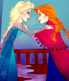 Frozen~Anna and Elsa Disney Fan Art, Disney Love, Disney Magic, Disney Frozen, Disney Stuff, Anna Disney, Anna Frozen, Walt Disney, Disney Films
