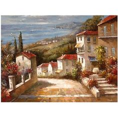 Trademark Fine Art Home in Tuscany Canvas Art by Joval, Size: 35 x 47, Multicolor