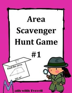 Do you need a FUN way for students to practice finding the area?  My students get so excited when they see a scavenger hunt on the agenda.  It's a great activity to review area and increase engagement!