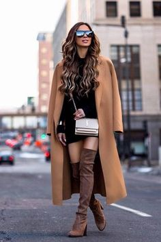 Learn how to form over the knee shoes, over the knee boots outfit inspiring ideas, fall design and style, winter period fashion. over the knee boot outfit winter Classy Outfits, Pretty Outfits, Stylish Outfits, Fashion Outfits, Womens Fashion, Instagram Outfits, Fall Winter Outfits, Winter Fashion, Winter Dresses