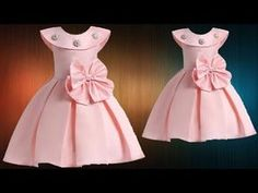 DIY Designer Box Pleated Baby Frock Cutting And Stitching Full Tutorial - YouTube