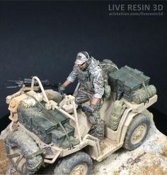 ArtStation - AVT + Soldier + colored printed model, Live Resin 3D Army Usa, Military Action Figures, Plastic Model Cars, Quad Bike, Military Modelling, Army Vehicles, Military Diorama, Modern Warfare, Special Forces