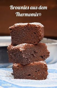 Brownies from the Thermomix® - mein ZauberTopf - die besten Thermomix® Rezepte - Chocolate Cookie Dough Cake, Chocolate Chip Cookie Dough, Chocolate Cake, Decadent Chocolate, Desserts Thermomix, Chocolate Thermomix, Thermomix Brownies, Food Cakes, Vegetarian Recipes
