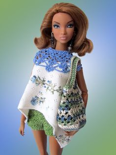 Irresistible Crochet a Doll Ideas. Radiant Crochet a Doll Ideas. Crochet Doll Dress, Crochet Barbie Clothes, Doll Clothes, Barbie Knitting Patterns, Barbie Patterns, Manequin, Fashion Dolls, Fashion Outfits, Mini Vestidos