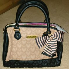 NWT Betsy Johnson satchel quilted spice handbag NWT Betsy Johnson satchel quilted spice handbag- Authentic Betsey Johnson Bags Satchels