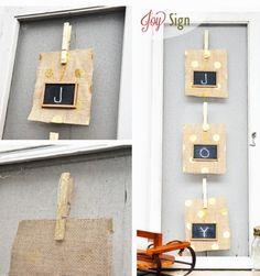 Cute Christmas DIY JOY Signs, Christmas DIY Decors, Handmade Joy Christmas Sign #DIY #christmas #signs #joy #tutorial www.loveitsomuch.com