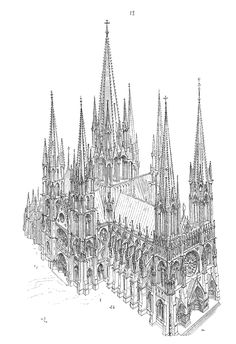 13th Century Cathedral. Many floorplans, illustrations and explanations (in French).