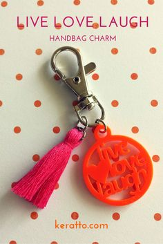 Live laugh love handbag charm #keratto #handbag #charm #keyring #keychain # #live #love #laugh #acrylic #laser #cut