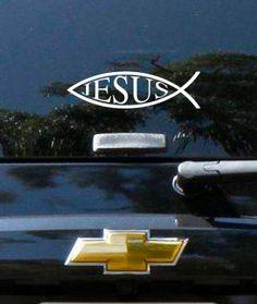 Jesus Fish Vinyl Vehicle Deca by designstudiosigns on Etsy, $10.00