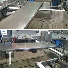(2/3) More pics from users. Renovation in a insdustrial kitchen. The Steel board supported by two Piher MULTIPROP. Ready to clean up the floor. It's Safe? No problem One multiprop can support up to 450kg (1000lb) . EasyFastStrong   #Piher #clamping #tools #adjustable #CargoBar #telescopic #Multiprop #industrialkitchen #renovations #steel #prop #3rd Hand #hardware #contractors #DoItYourWay