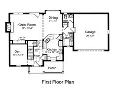 First Floor Plan of Cape Cod   House Plan 50169
