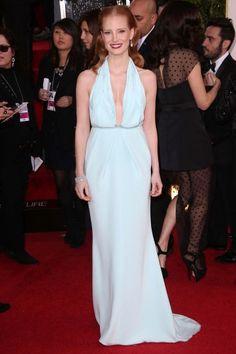Jessica Chastain in Calvin Klein - one of my fav 2013 Golden Globes dresses