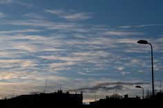 White Clouds at the horizon #sky #industry #milan