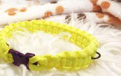 Dog Collar - Small Lightening Pet Collar - Paracord Dog Collar - Yellow Dog Collar - Handmade Dog Collar - Homemade Dog Collar - Strong Dog Collar