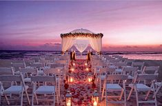 romantic beach wedding at sunset, figured I'd pin it again just because it's my fave :)))))