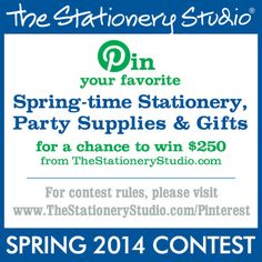 The Stationery Studio 2014 Spring Contest.... If you're looking for supplies, it might be worth considering this company to gather the supplies to make your project perfect!