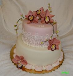 cake with orchids for 70 birthday - torta s orchideami na 70. narodeninám...