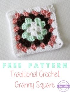 Easy Traditional Crochet Granny Square with VIDEO TUTORIAL! | Free Pattern from Sewrella