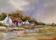 Image result for painting fisherman's cottage cape Acrylic Canvas, Canvas Art, South African Homes, Fishermans Cottage, Pottery Lessons, Building Painting, Artistic Tile, Paint Designs, Fabric Painting