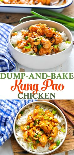 Skip Chinese food carryout and make your own easy dinner at home with Dump-and-Bake Kung Pao Chicken in just 10 minutes! Chicken Breast Recipes | Chinese Recipes | Baked Chicken Recipes | Dinner Ideas #TheSeasonedMom #dinner #chicken #chinesefood #easyrecipes #easydinner