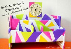 Back to School Organizer by The Silly Pearl #cbias #gluenglitter