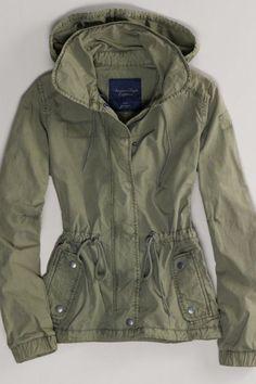 AEO Women's Military Jacket (Olive)