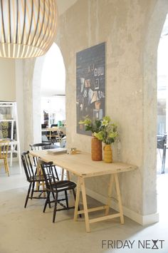 Friday next, conceptstore amsterdam, cafe, lunchroom, vintage, secto, industrial, concrete wall, moodboard