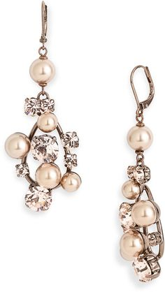Givenchy Pine Street Drop Earrings in Pink (blush pearl/ silk)