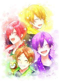 Kawaii Anime, Kawaii Girl, First Animation, Animation Film, Anime Kunst, Anime Art, Vocaloid, Anime Boy Hair, Nichijou