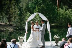 So, as firefighters looked on, Michael and April rushed through their vows in half time, racing to make sure they were able to have their dream wedding in their perfect place. | An Oregon Couple Rushed Through Their Wedding Because Of A Wildfire And The Photos Are Breathtaking