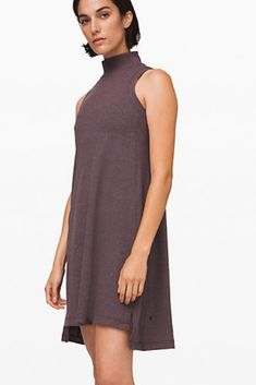 The perfect dress by Lululemon. The Gone for the Week dress is made perfectly and versatile for every occasion. Shop now! Everyday Dresses, Athletic Wear, Lululemon, Shop Now, High Neck Dress, Casual, Shopping, Clothes, Fashion