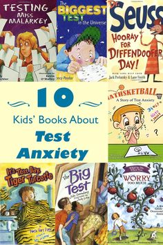 These children's books about taking tests and test anxiety can help your kids understand, talk about, and even laugh about any worries they may have. Test Taking Strategies, Test Anxiety, Social Anxiety, Kindergarten, Anxiety In Children, Mentor Texts, Social Emotional Learning, Character Education, Positive Thoughts