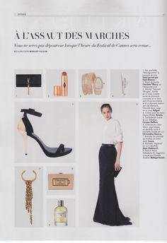 #Carmen Steffens foi destaque na edição da L'Officiel #francesa! A #glamourosa sandália com detalhe dourado foi a escolha perfeita para compor editorial elegante e sofisticado.   #highheels