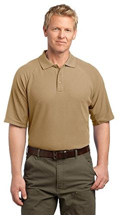 CornerStone Mens EZCotton Tactical Polo 3XL Tan -- Click on the image for additional details. Note:It is Affiliate Link to Amazon.