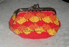 Rendas da Mãe: Bolsa porta moedas em croche Coins, Coin Purse, Wallet, Purses, Key Fobs, Articles, Made By Hands, Bags, Tricot