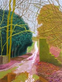 Spring in Woldgate by David Hockney, January 29, 2011. Done on iPad