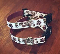 Mississippi State Bulldogs Collar by LiveLifeSmiling on Etsy https://www.etsy.com/listing/466179132/mississippi-state-bulldogs-collar