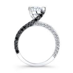 Barkev's Black Diamond Engagement Ring 7870LBKW  I LOOOOOOOOOOOVE THIS!!!!!!!!!!!!!!!!!!!!!!!!!!!!!!!!!!!!!!!!!!!!!!!!!!!!!!!!!!!!!!!!!!!!