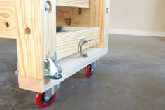 Mobile Torsion Box Workbench #5: Making it Mobile (but Stable ...