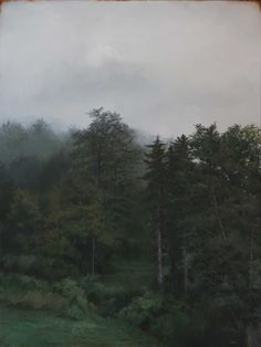 """Adam Hall, Through the Woods, 30"""" x 40"""", oil on panel. Courtesy Robert Lange Studios and the artist."""