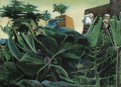 Max Ernst (German, 1891-1976), La Nature à l'aurore [Nature at dawn], 1937. Oil on board, 23.8 x 32.7 cm.