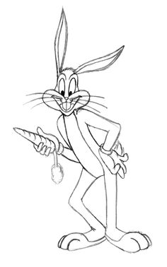 bugs bunny verry like carrots coloring page