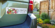 I Love Pollinators Bumper Sticker | Botanical Interests. High Quality Seed.