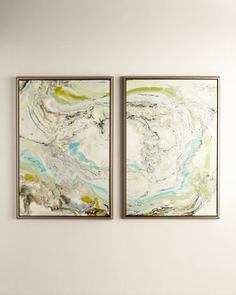 """Green+Waves""+Giclees,+2-Piece+Set+at+Neiman+Marcus."